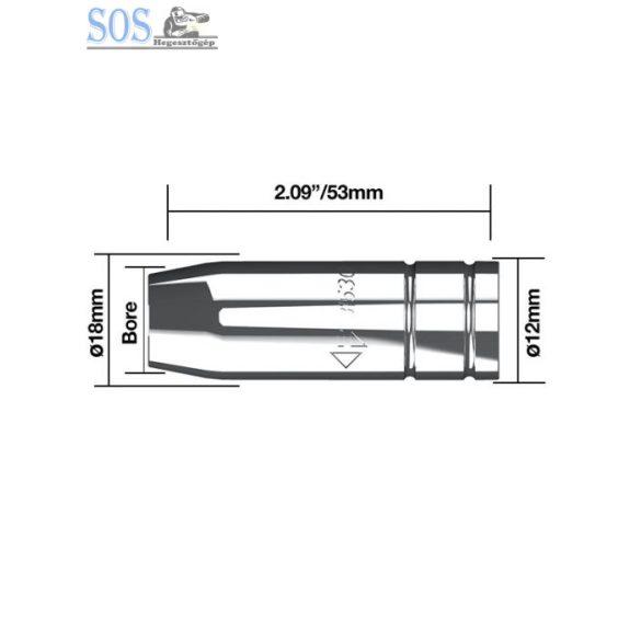 Egyenes gázterelő O 16 mm 180A (5db/cs)