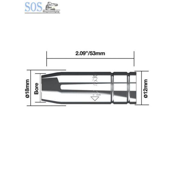 Szűkülő-kúpalakú gázterelő O 11 mm 180A (5db/cs)