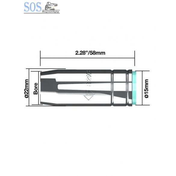 Kúpalakú gázterelő O 15 mm 230A (10db/cs)