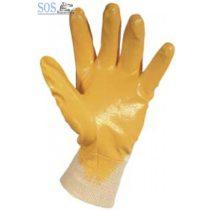Mártott kesztyű sárga nitril 7-es