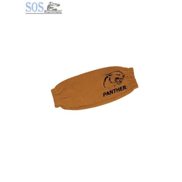 Panther hegesztő alkarvédő, vastag, hasított marha, sárga (45cm-es gumis)