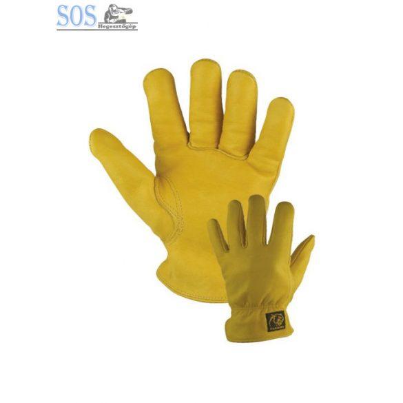 Panther sofőrkesztyű, bélelt, finom ujjhegyek, elasztikus hát, sárga borjúbőr (10db/cs)