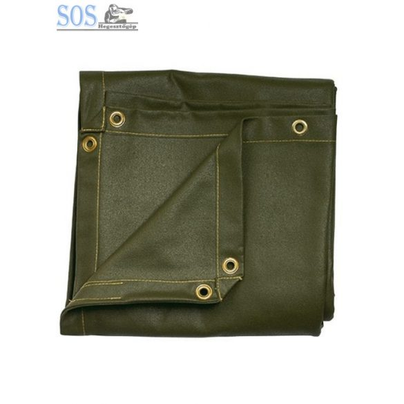 Hegesztőfüggöny zöld UV fényálló PVC, 2,4mx1,8m