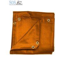 Hegesztőfüggöny narancssárga UV fényálló PVC, 2,4mx1,8m