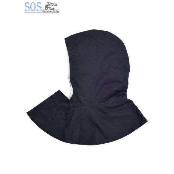 Hegesztőkámzsa fejvédő, vastag sűrű szövet (335g), rövid nyak résszel, kék