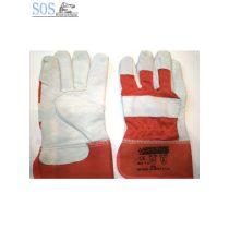 PWD Rakodó kesztyű, piros, puha bőr, 10-es méret (12pár/cs)