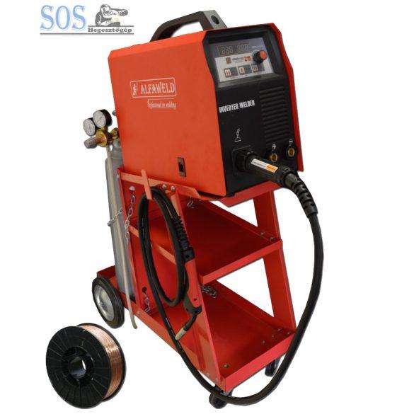 Handy MIG 215A/230V Sinergic inverteres hegesztőgép 10Kg CO2 palackkal