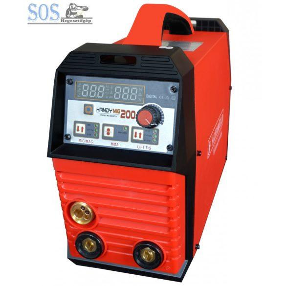 Handy MIG 200A/230V Synergic inverteres hegesztőgép 2,1m3 corgon palackkal