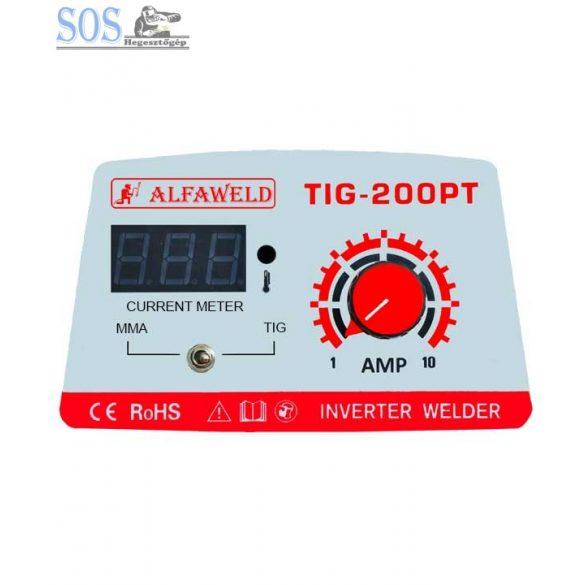 Alfaweld TIG-200PT inverteres hegesztőgép pajzzsal