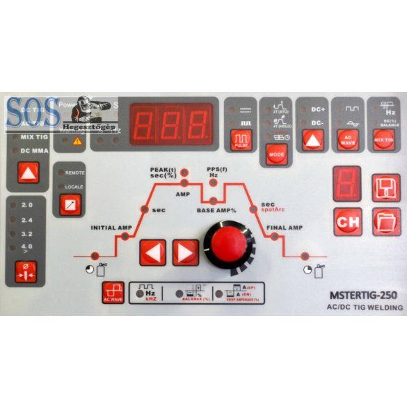 MasterTIG 250 - Professzionális AWI digitalizált hegesztőgép